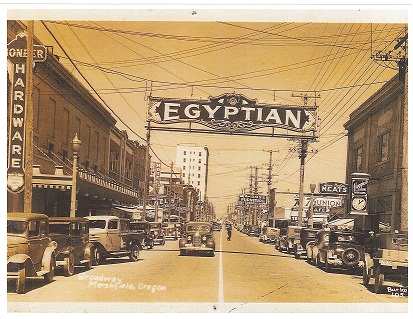 Egyptian Theatre sign in the 1920s