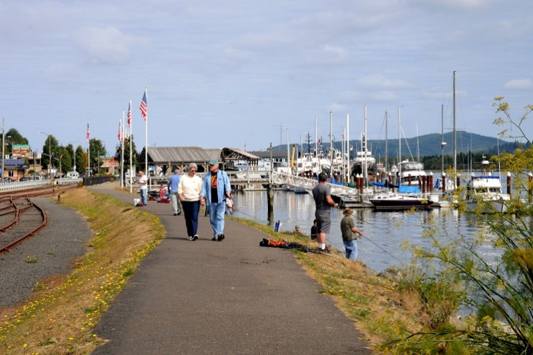 Enjoy a stroll along the waterfront