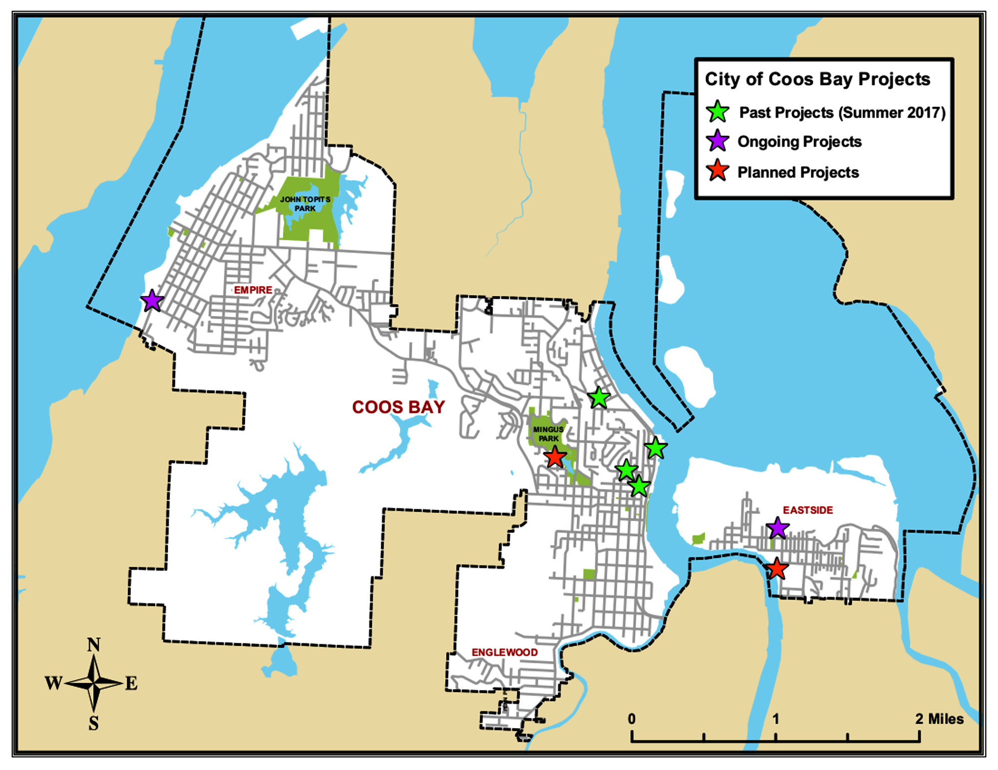 City I & I projects map