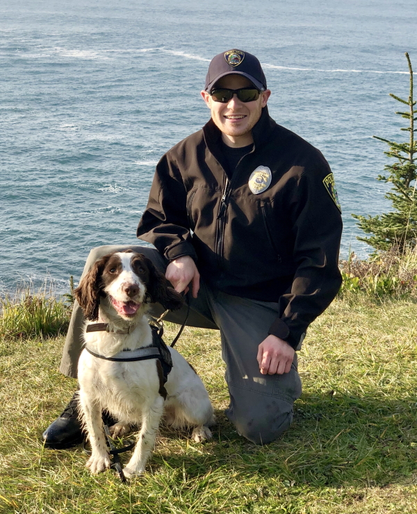 K9 Officer Katie and handler Officer Looney