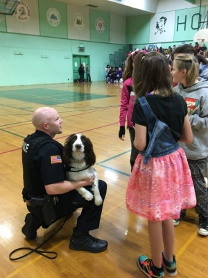 K9 Katie at School