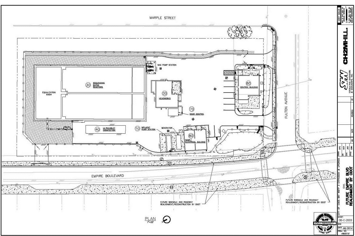 Preliminary site plan for construction